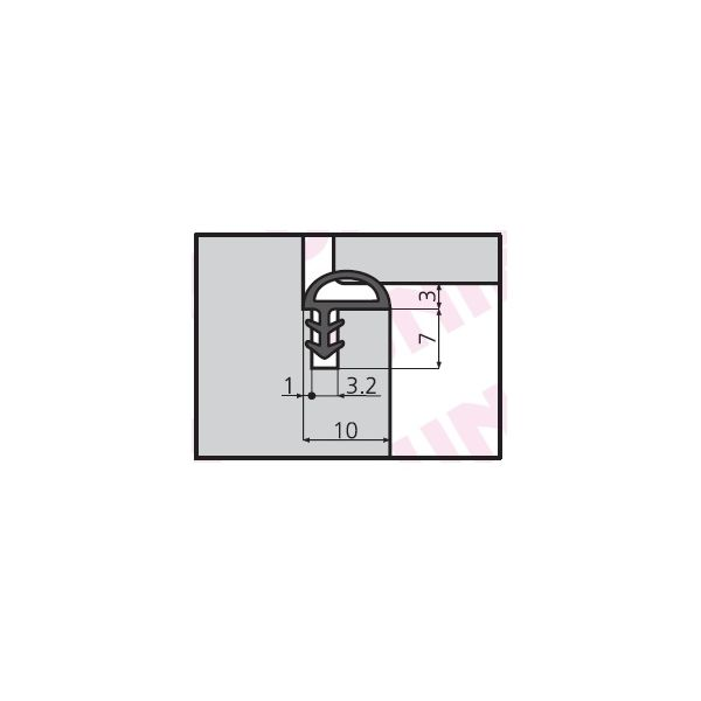 GUARNIZIONE IN PVC GP 30 UNIFORM (CONF.200 MT)