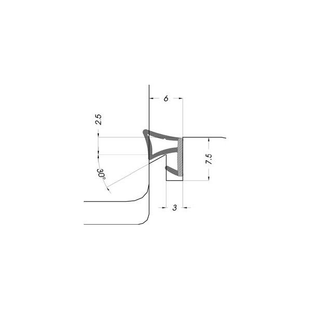 GUARNIZIONE IN TPE TRIPLEX 06 UNIFORM (CONF.200 MT)