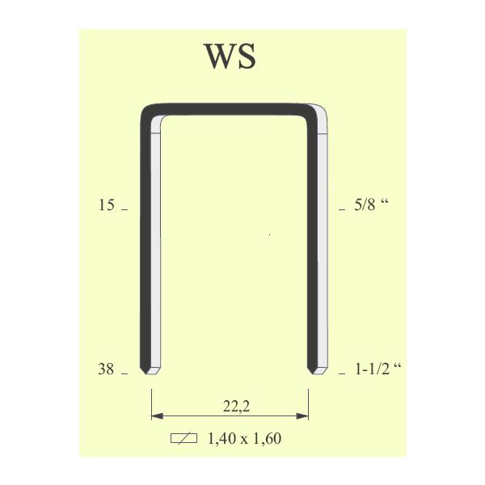 Graffe serie WS / 16WC (CONF. 7.000 PZ.)