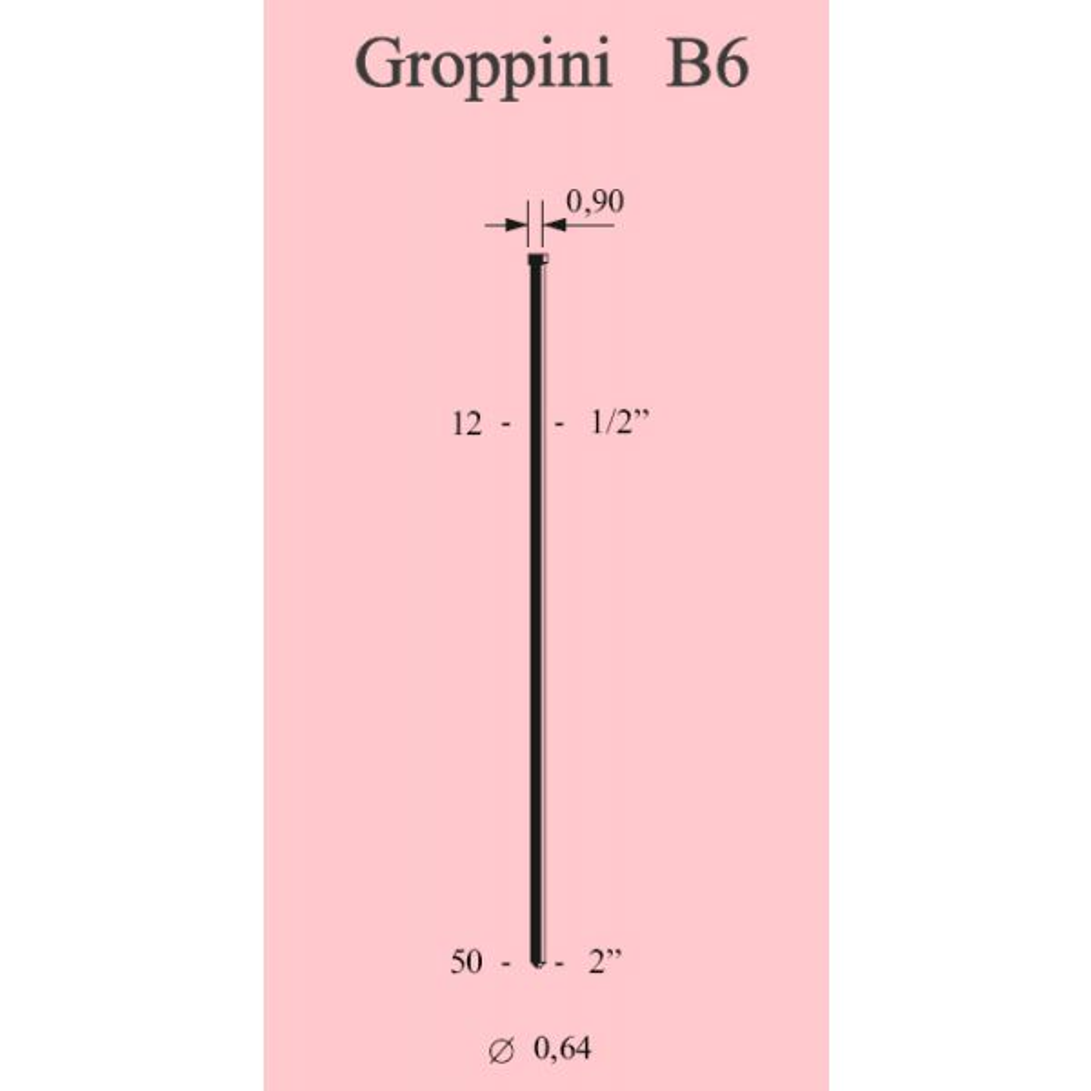 Groppini MB / M Ø 0,64 (CONF. 10.000 PZ.)