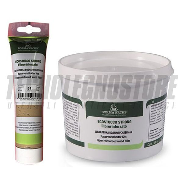 STUCCO IN PASTA COLORATO FIBRORINFORZATO ECOSTUCCO STRONG BORMA WACHS (CONF.250 ML)