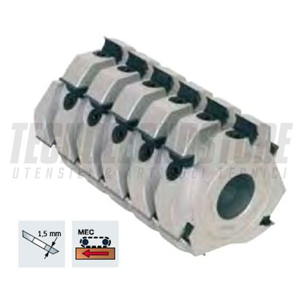 Teste TM06MA per spinare a taglienti elicoidali FREUD (Ø 125)